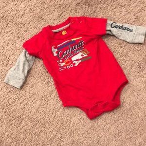 6 month boys carhartt onesie